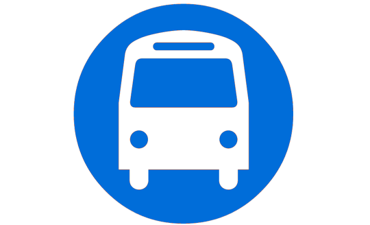 Mercado en Madrid Tirso de Molina el logo del autobús