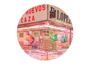 mercado en madrid tirso de molina miniatura de local pollería Aves y huevos López