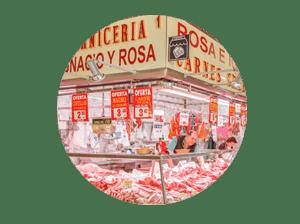 mercado en madrid tirso de molina miniatura de local carnicería Ignacio y Rosa
