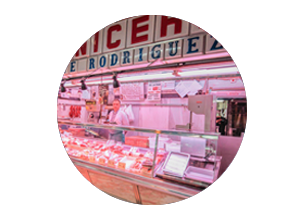 mercado en madrid tirso de molina miniatura de local carnicería Vicente Rodriguez