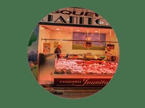 mercado en madrid tirso de molina miniatura de local casquería Juanito