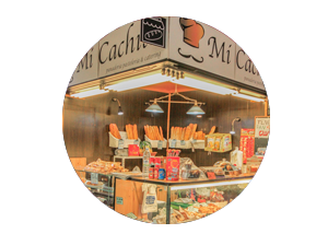 mercado en madrid tirso de molina miniatura de local panaderia mi cachito