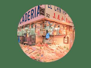 mercado en madrid tirso de molina miniatura de local pescadería El Cantábrico