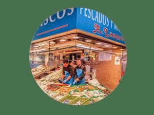 mercado en madrid tirso de molina miniatura de local pescadería A.Lázaro