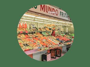 mercado en madrid tirso de molina miniatura de local frutería Mundo Frutas